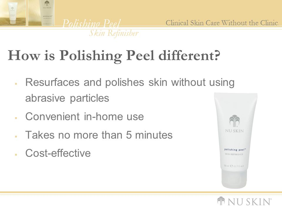 How is Polishing Peel different