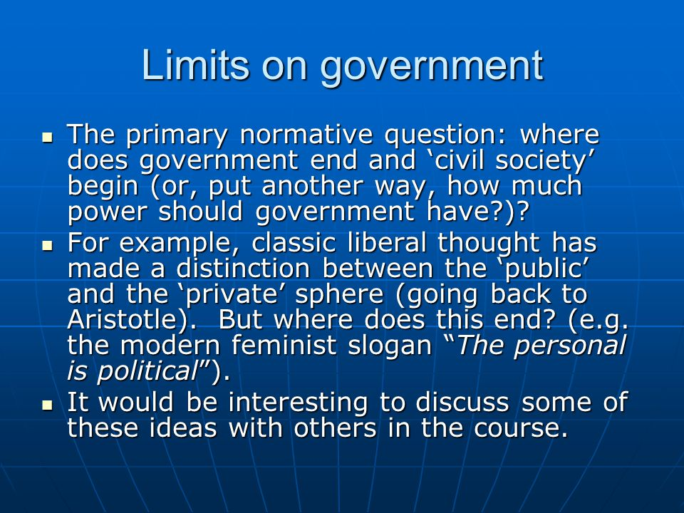 Limits on government
