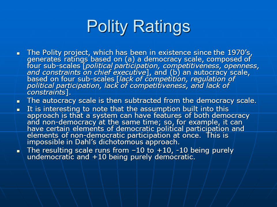 Polity Ratings