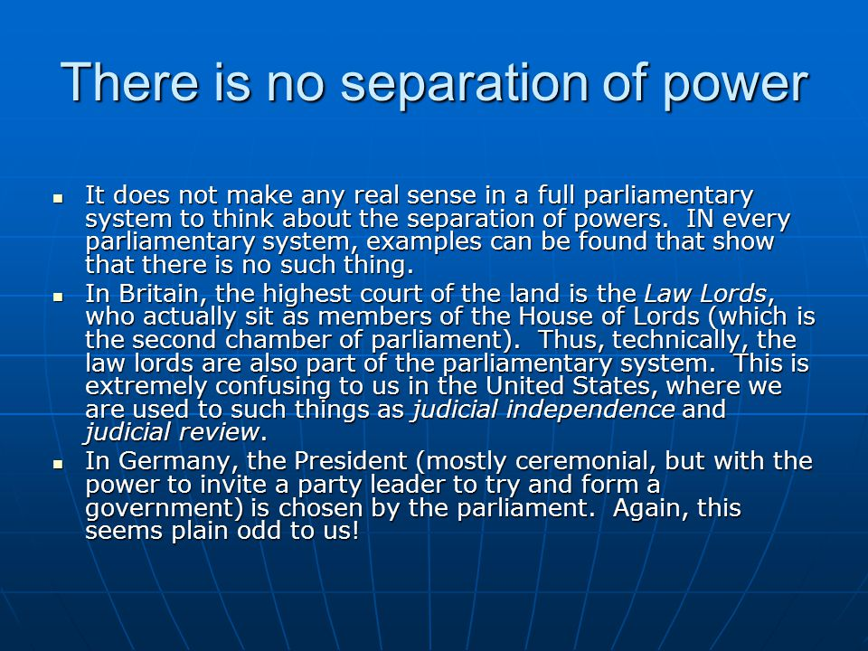 There is no separation of power