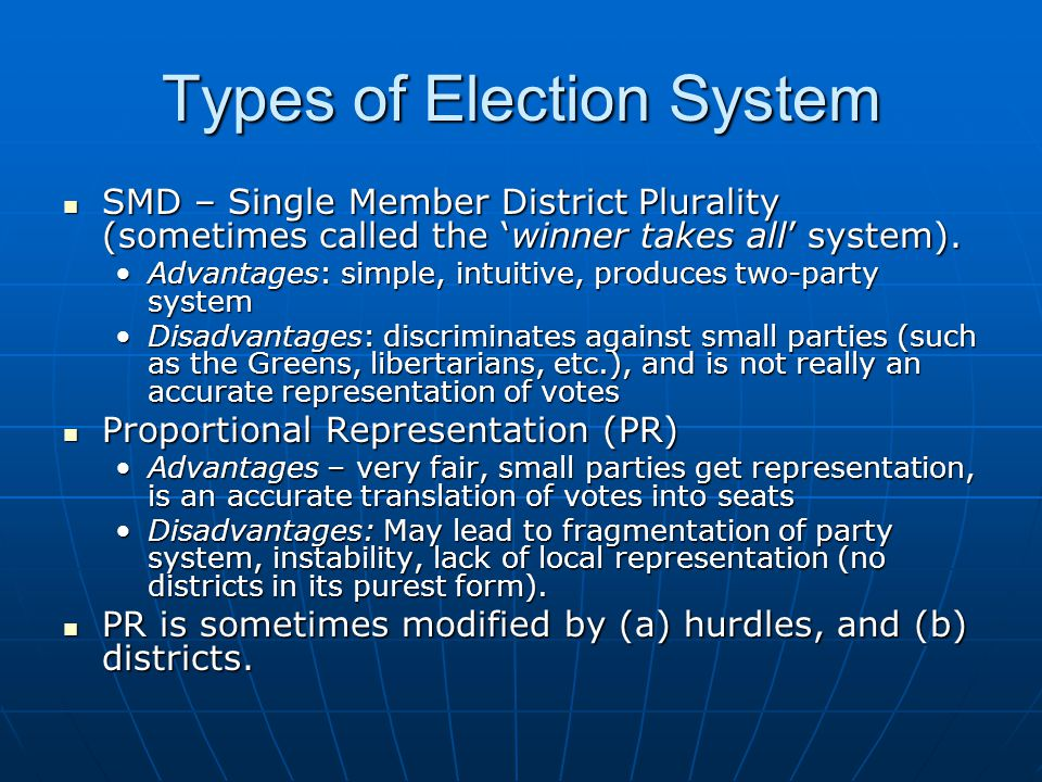Types of Election System