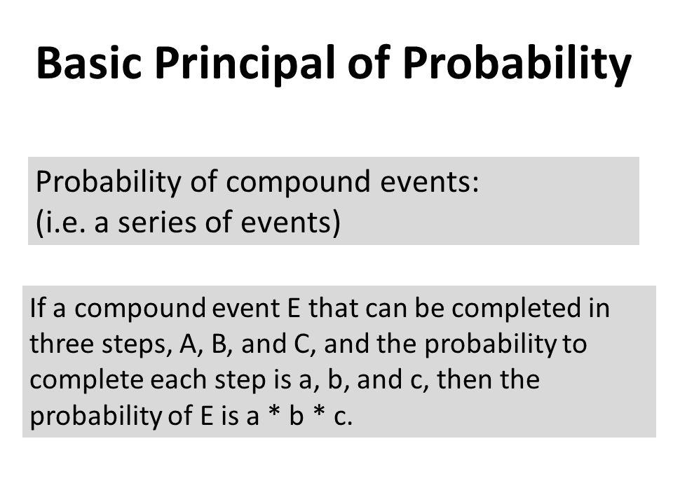 Basic Principal of Probability