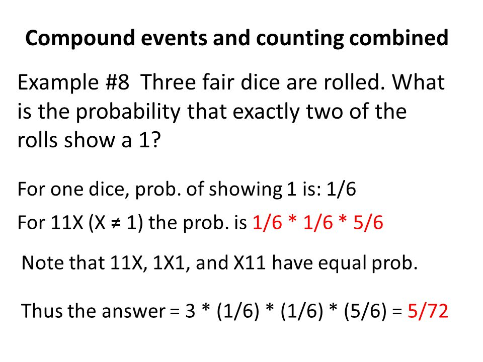 Compound events and counting combined
