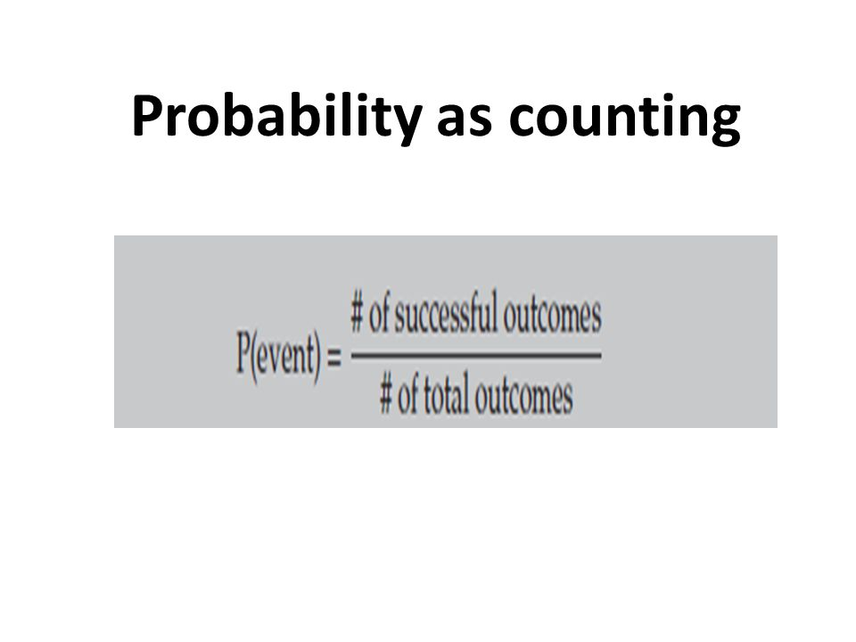 Probability as counting
