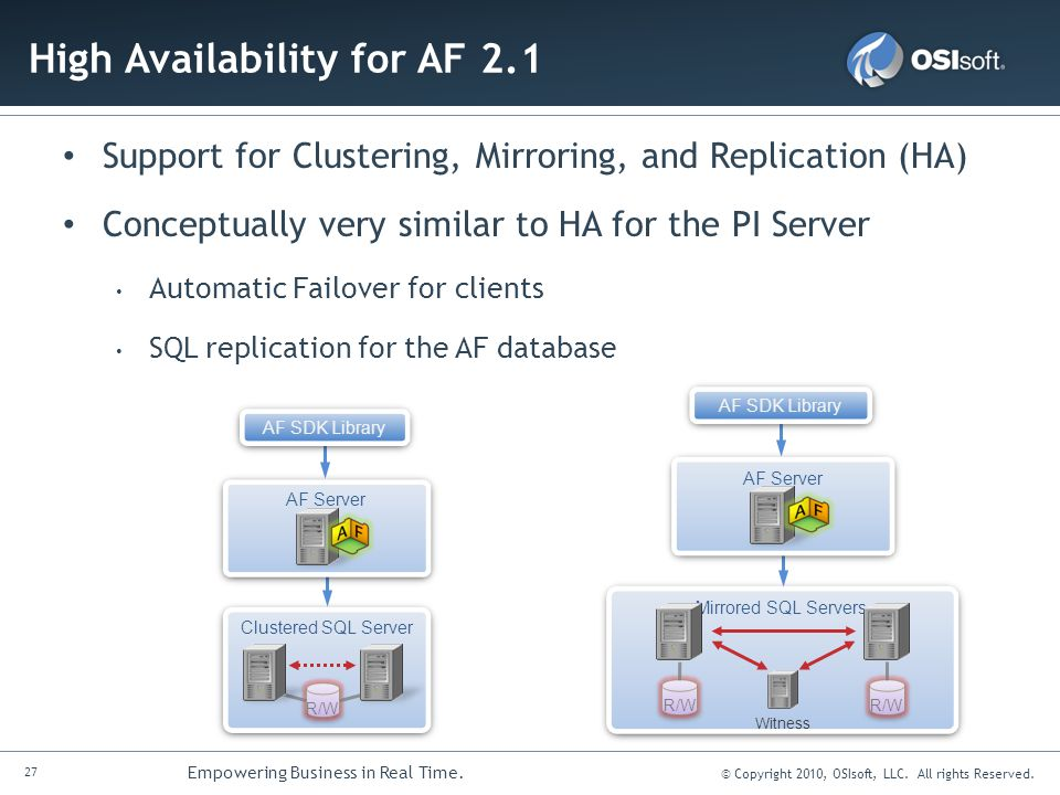 High Availability for AF 2.1