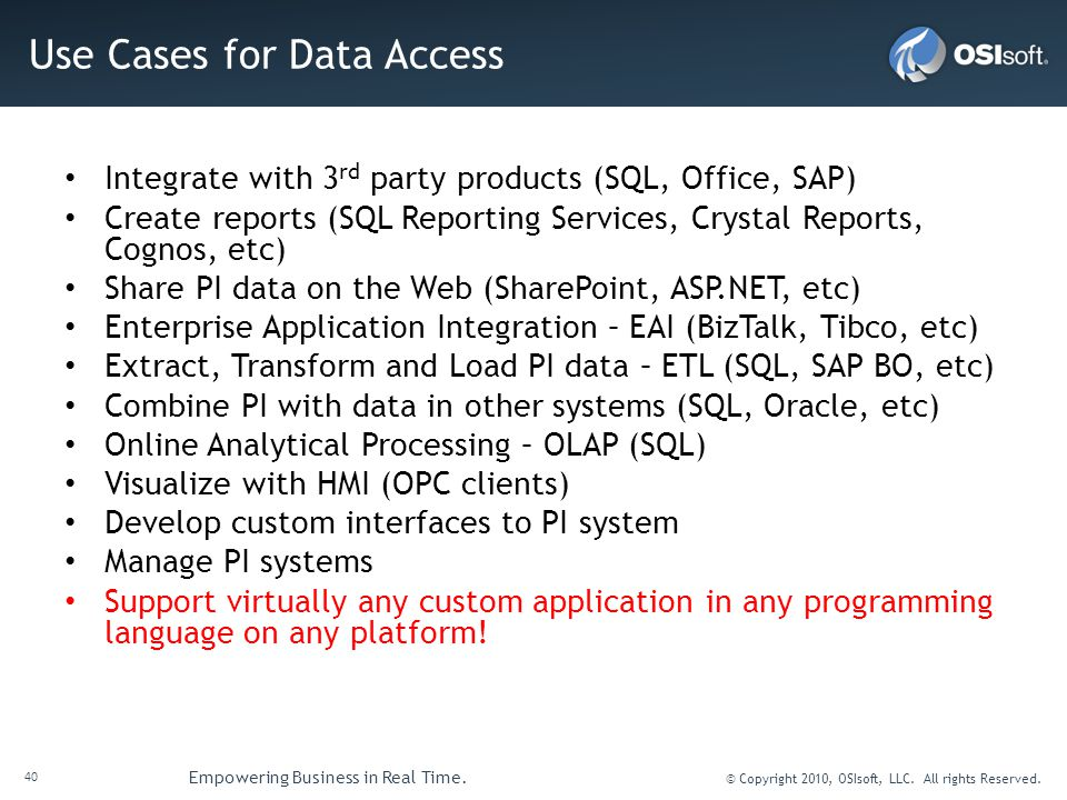 Use Cases for Data Access