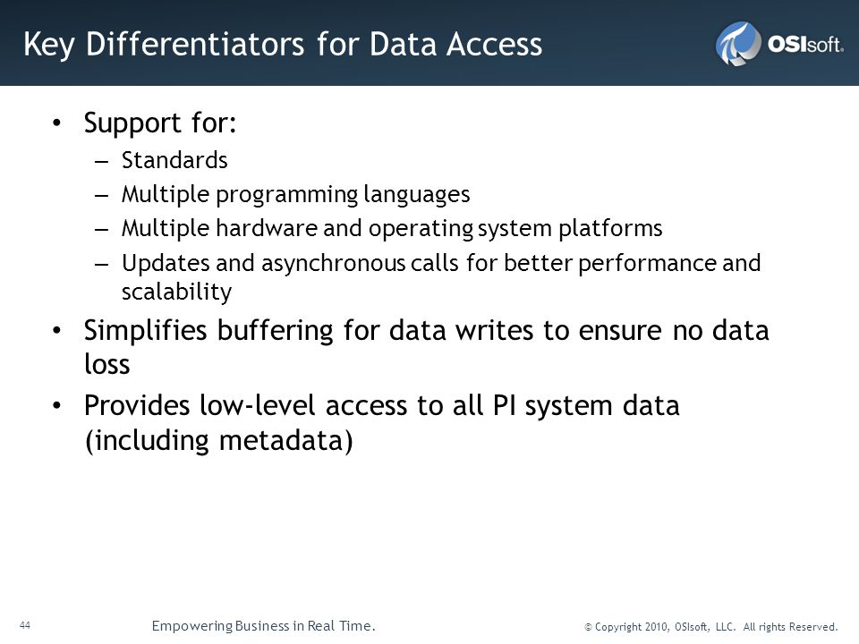 Key Differentiators for Data Access