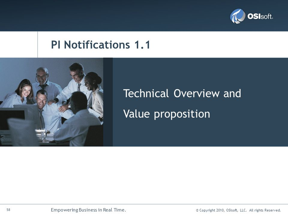 PI Notifications 1.1 Technical Overview and Value proposition