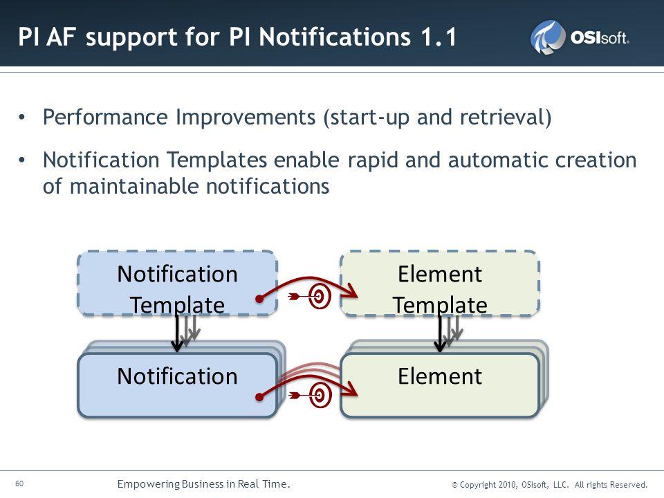 PI AF support for PI Notifications 1.1