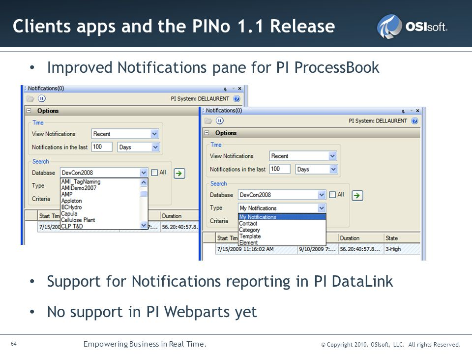 Clients apps and the PINo 1.1 Release