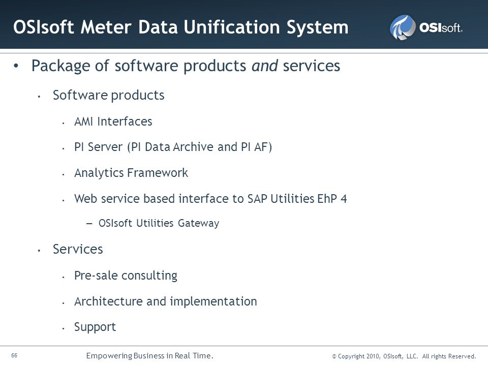 OSIsoft Meter Data Unification System