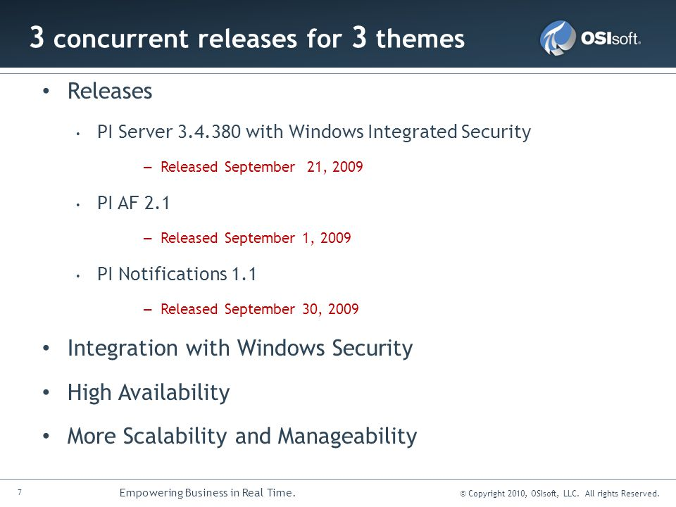 3 concurrent releases for 3 themes