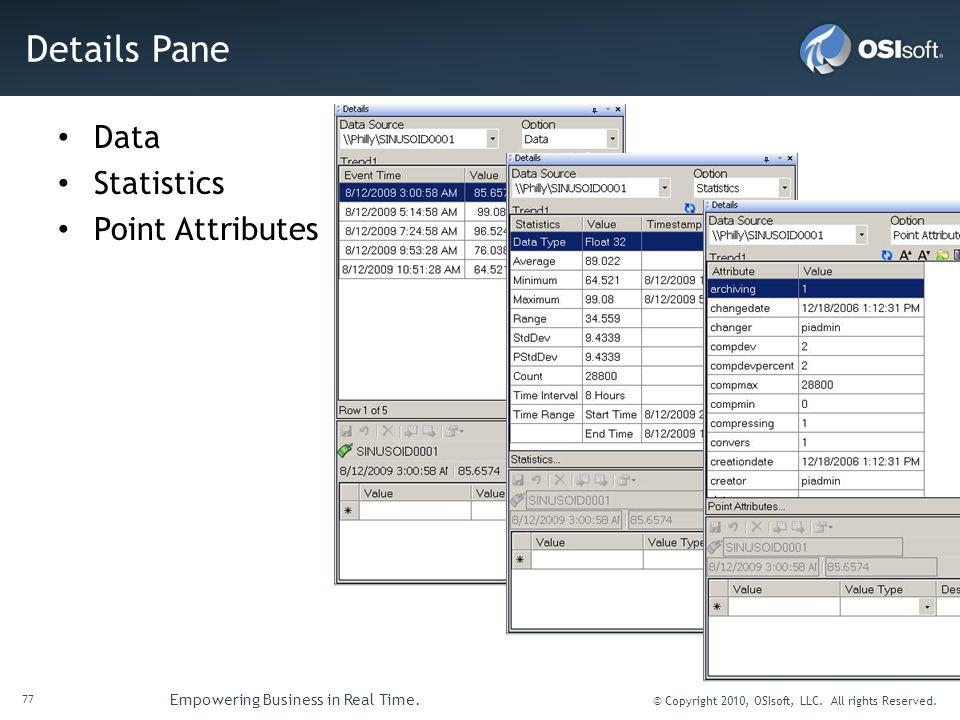 Details Pane Data Statistics Point Attributes