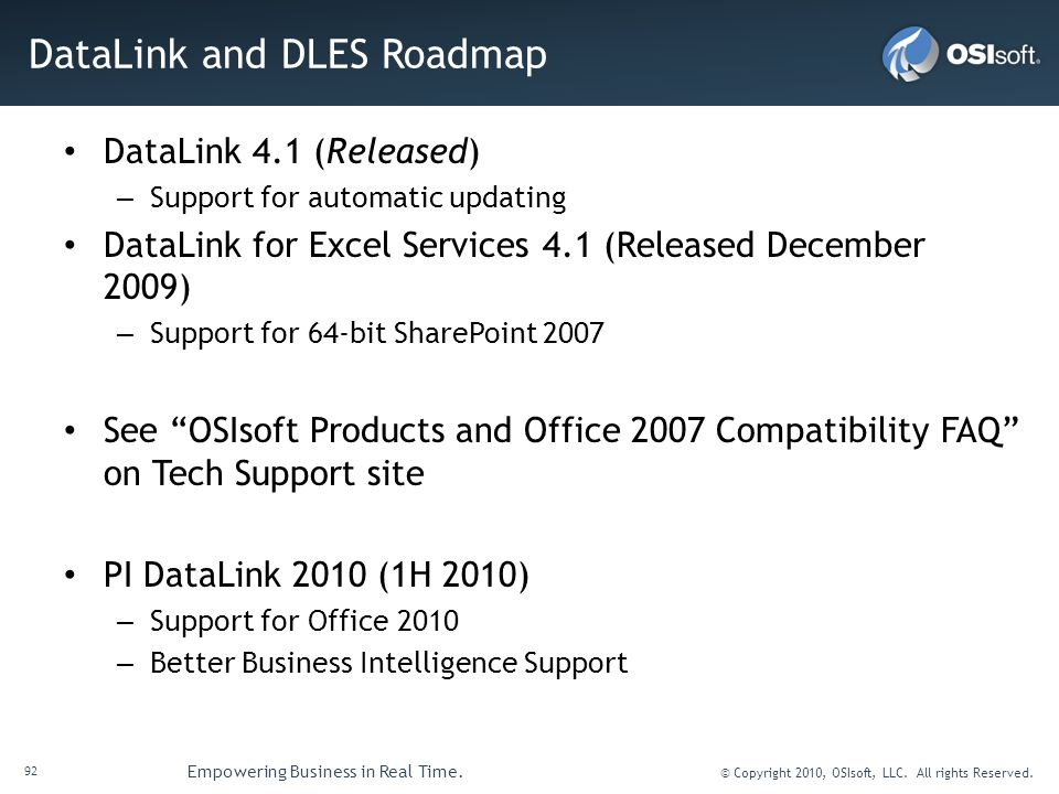 DataLink and DLES Roadmap