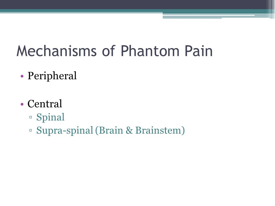 Mechanisms of Phantom Pain