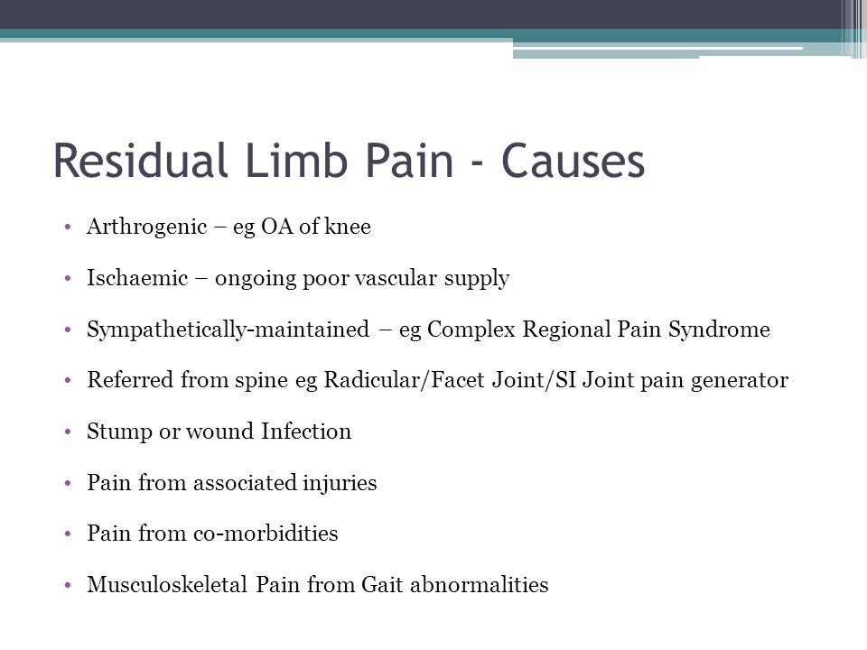 Residual Limb Pain - Causes