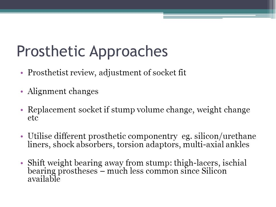 Prosthetic Approaches