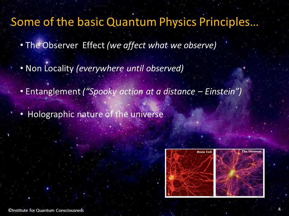 Some of the basic Quantum Physics Principles…