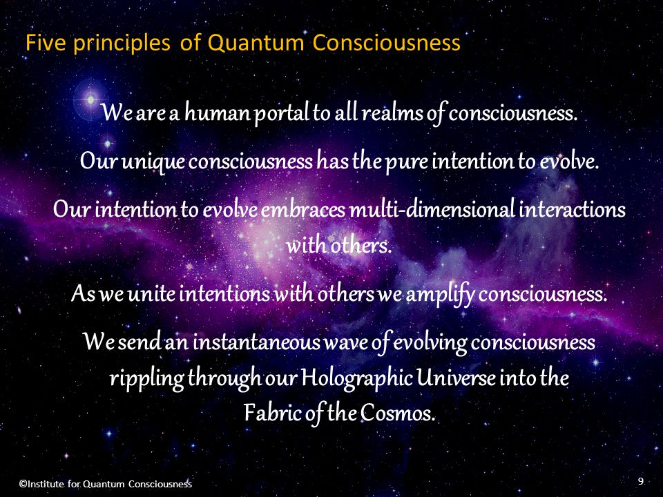 Five principles of Quantum Consciousness
