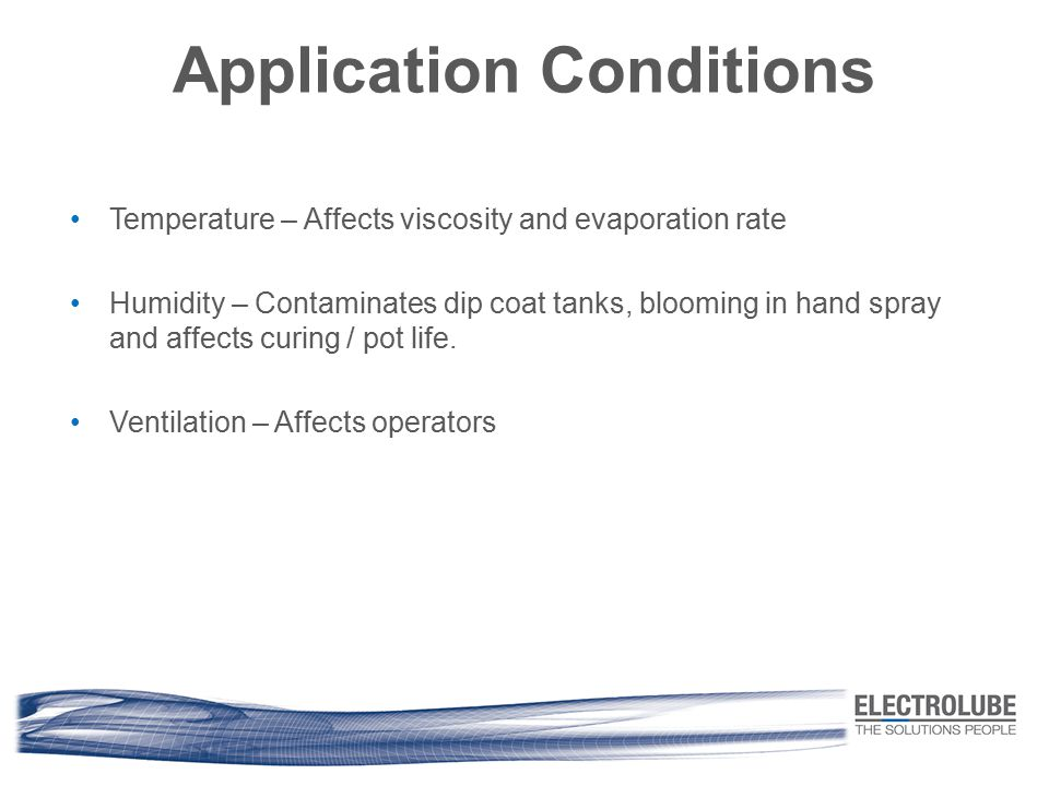 Application Conditions
