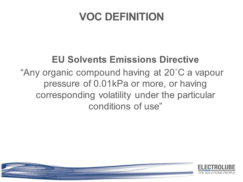 EU Solvents Emissions Directive