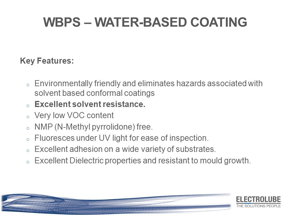 WBPS – WATER-BASED COATING