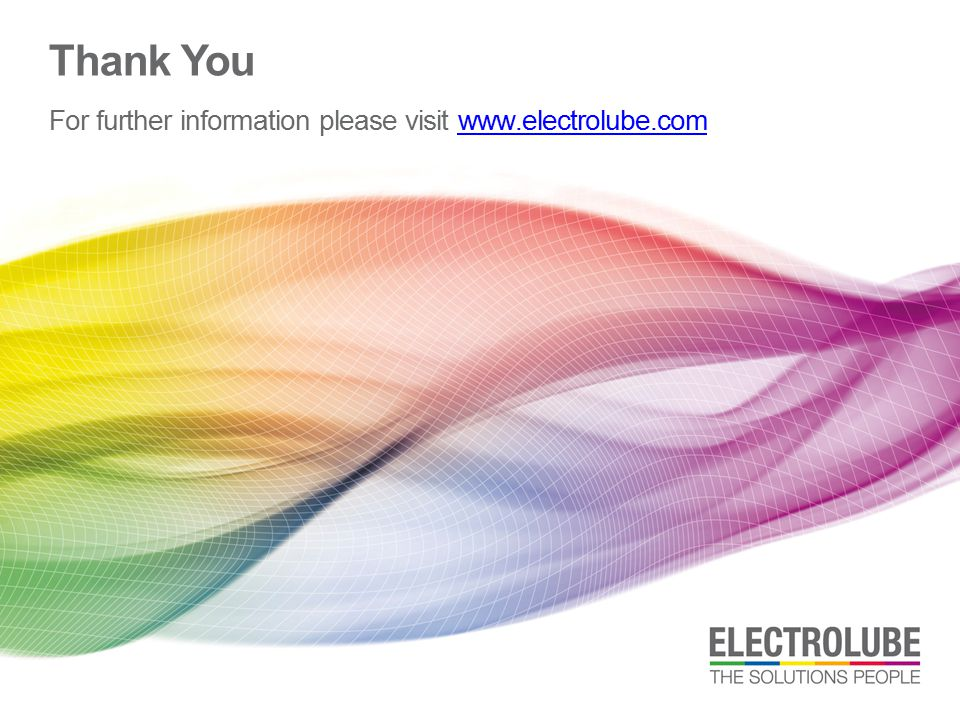 For further information please visit www.electrolube.com