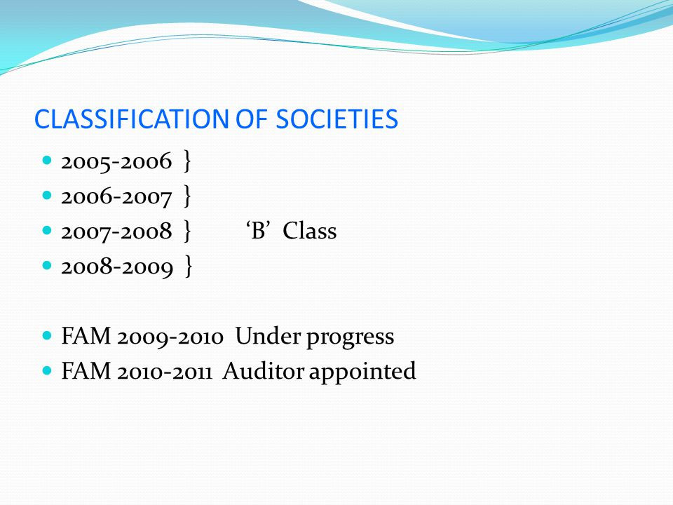 CLASSIFICATION OF SOCIETIES