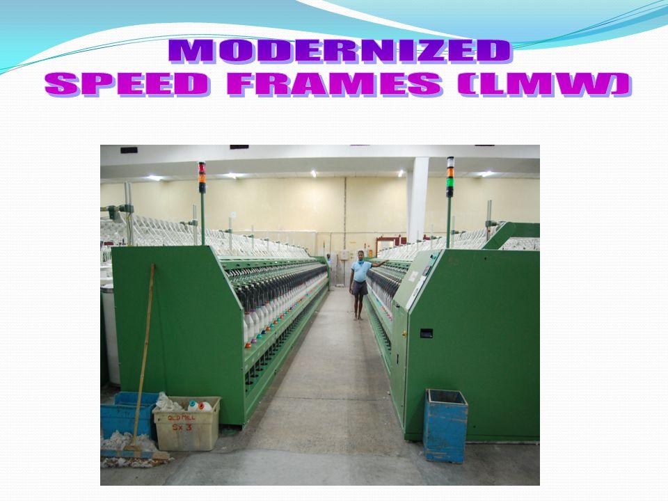 MODERNIZED SPEED FRAMES (LMW)