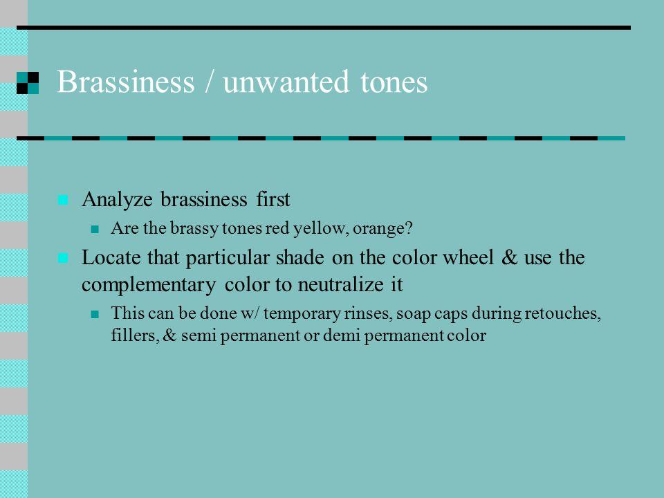 Brassiness / unwanted tones