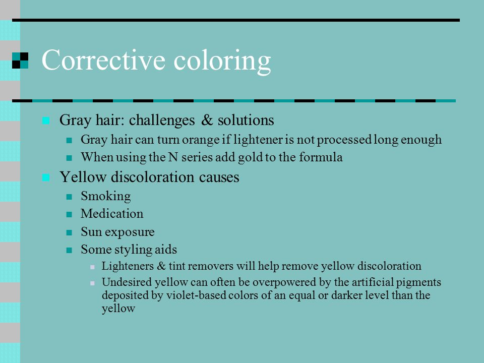 Corrective coloring Gray hair: challenges & solutions