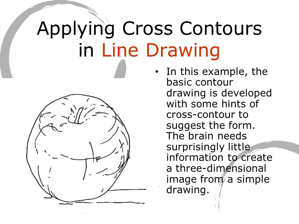 Applying Cross Contours in Line Drawing