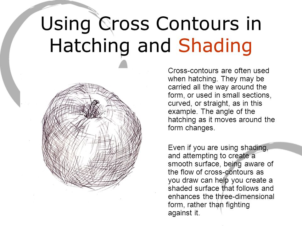 Using Cross Contours in Hatching and Shading