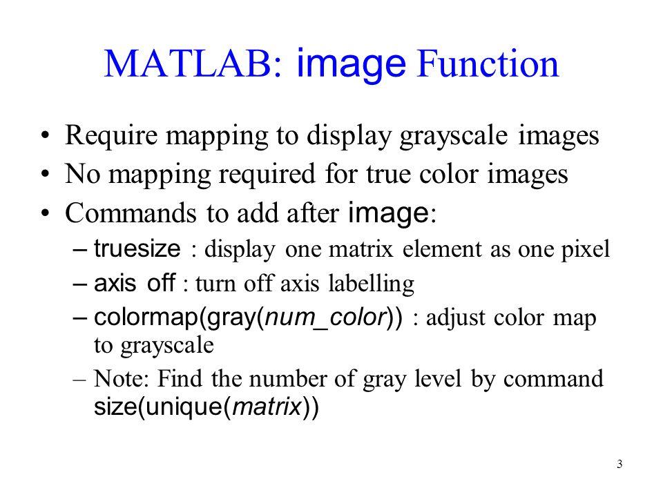 MATLAB: image Function