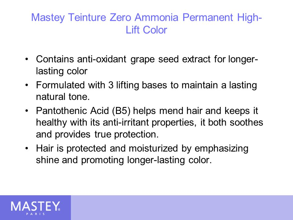 Mastey Teinture Zero Ammonia Permanent High-Lift Color
