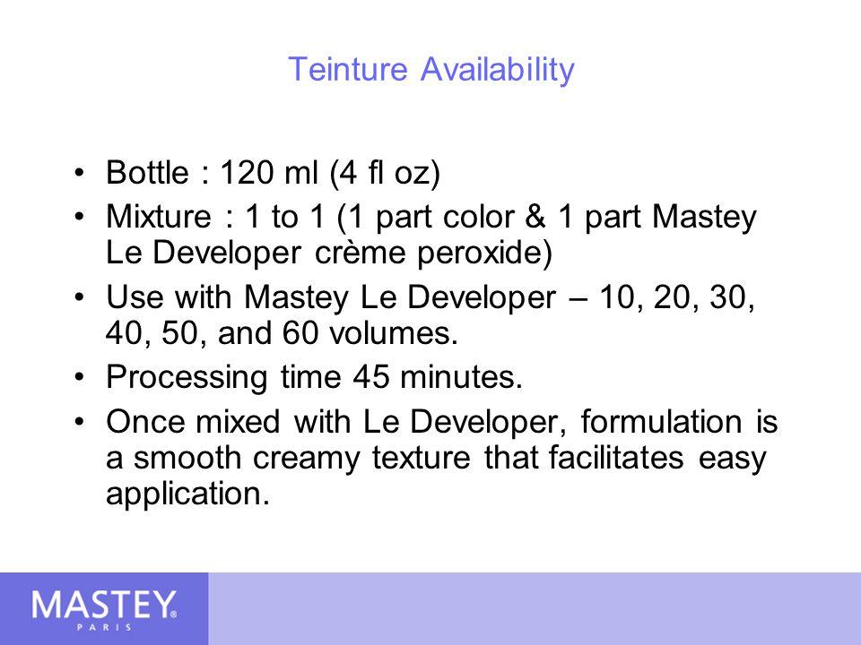 Teinture Availability