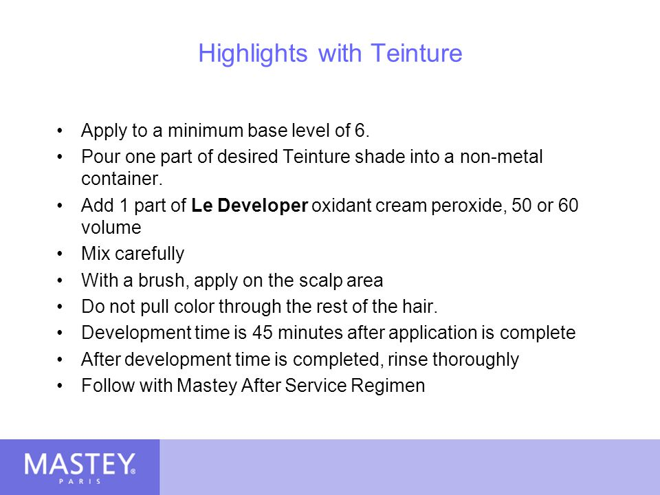 Highlights with Teinture