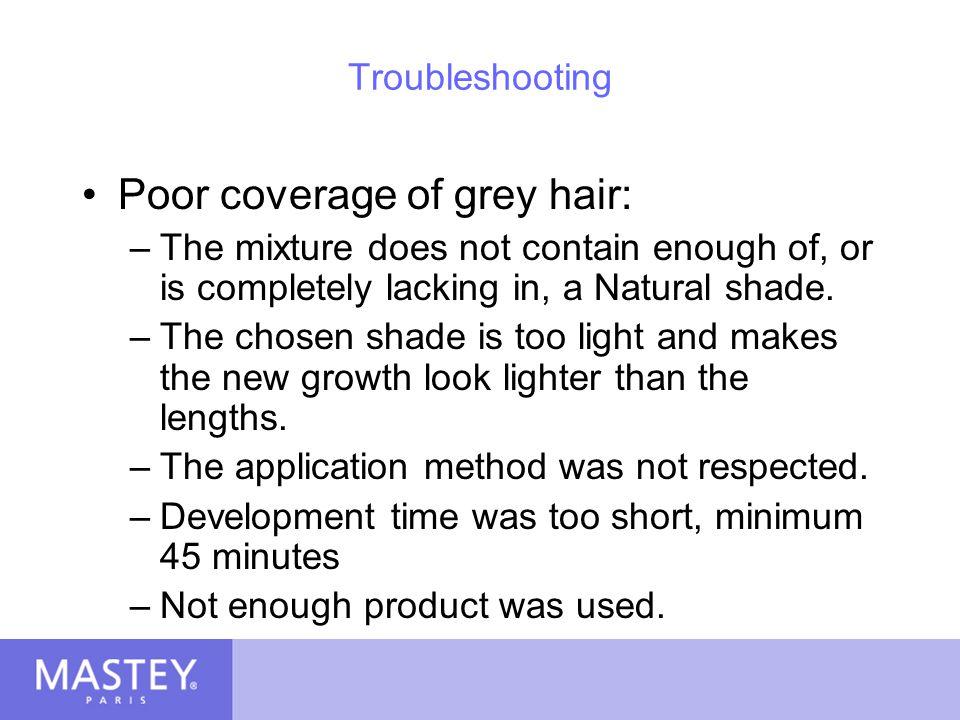Poor coverage of grey hair: