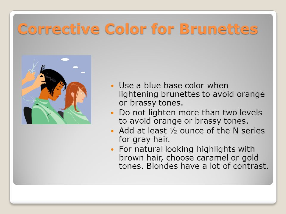Corrective Color for Brunettes
