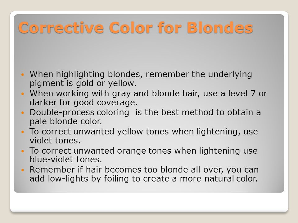 Corrective Color for Blondes