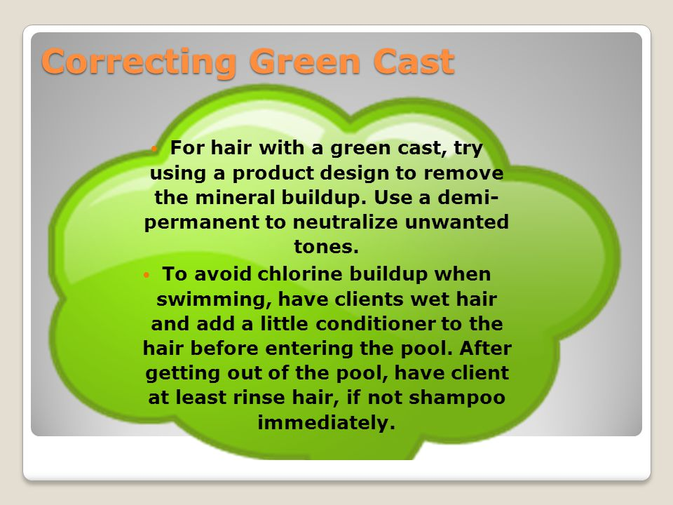 Correcting Green Cast