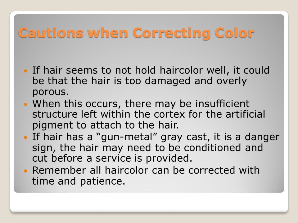 Cautions when Correcting Color