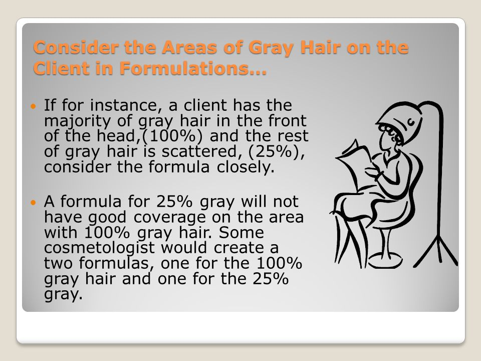 Consider the Areas of Gray Hair on the Client in Formulations…