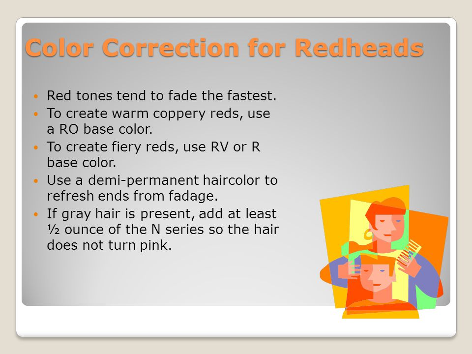 Color Correction for Redheads