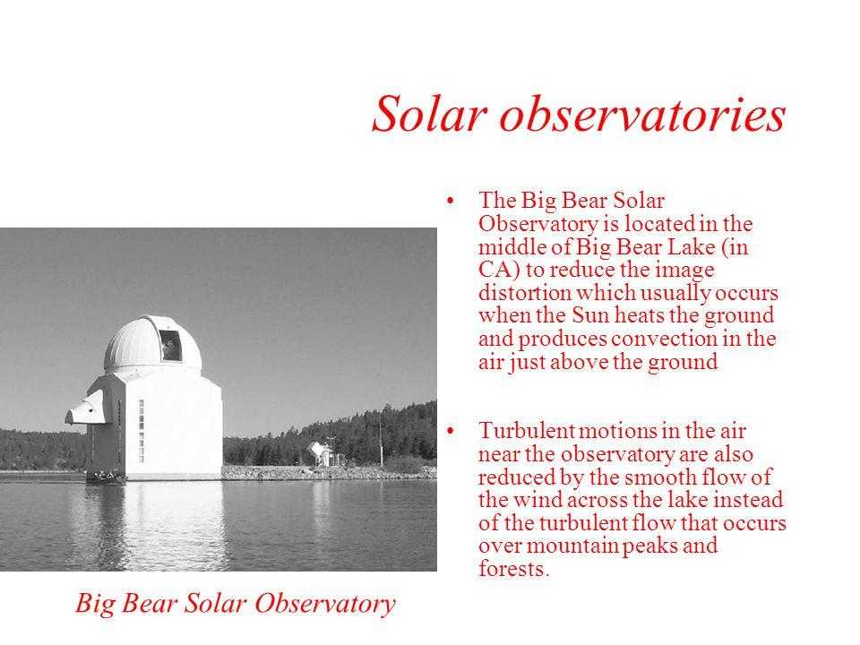 Solar observatories Big Bear Solar Observatory
