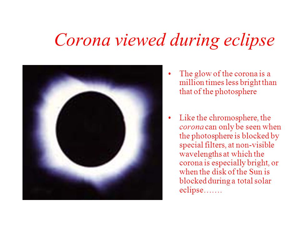 Corona viewed during eclipse