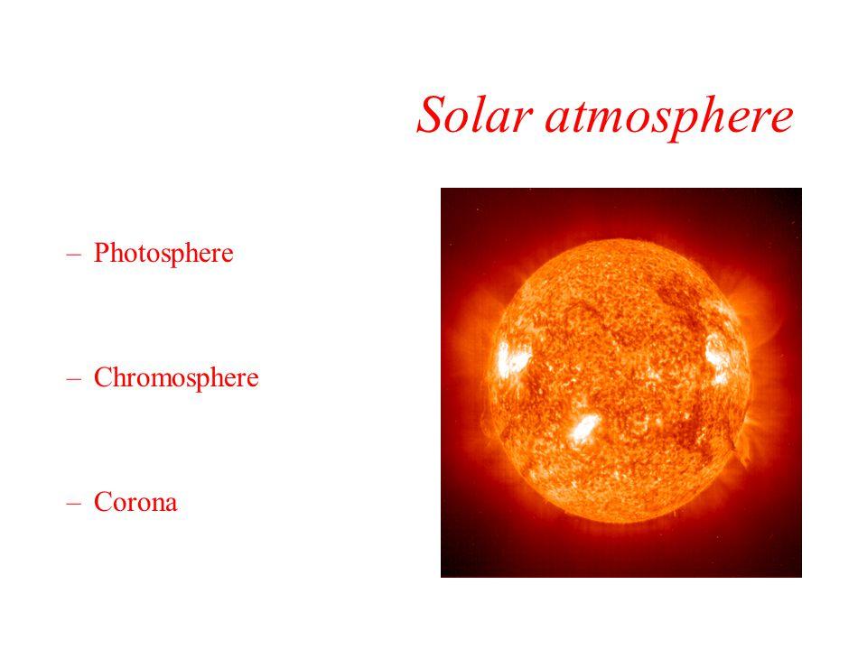 Solar atmosphere Photosphere Chromosphere Corona