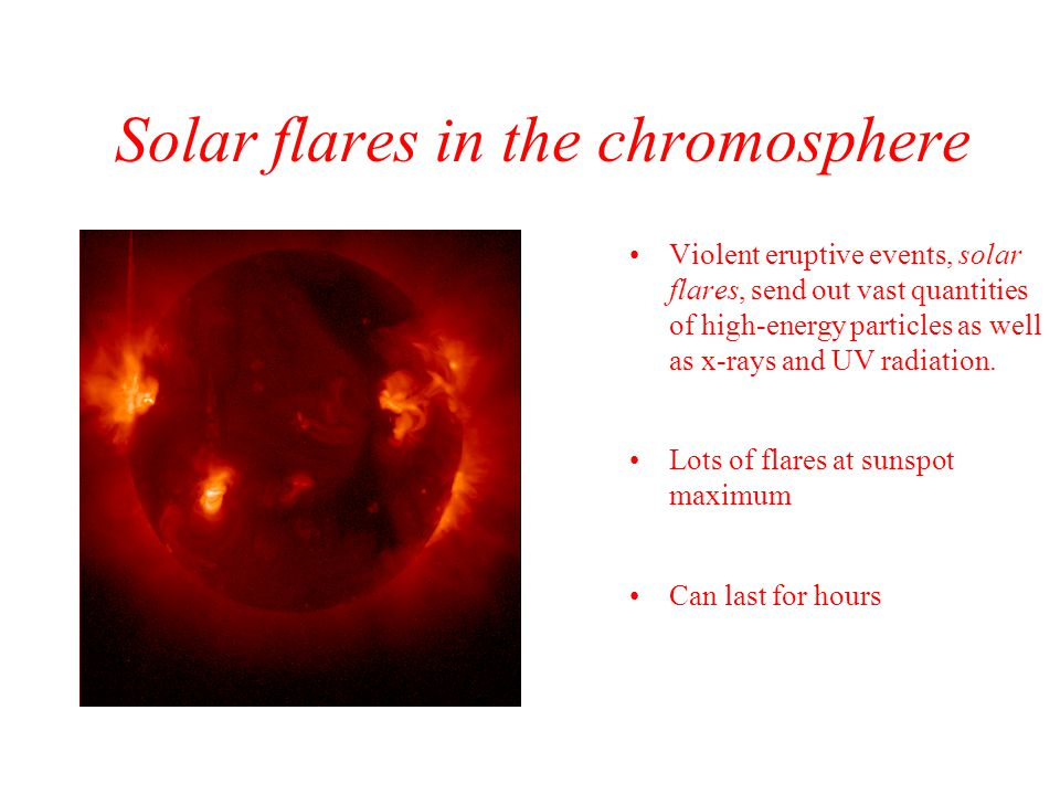 Solar flares in the chromosphere