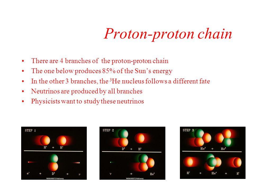 Proton-proton chain There are 4 branches of the proton-proton chain