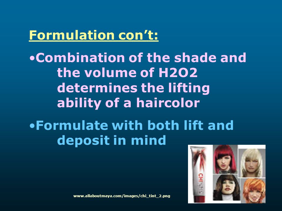 Formulate with both lift and deposit in mind